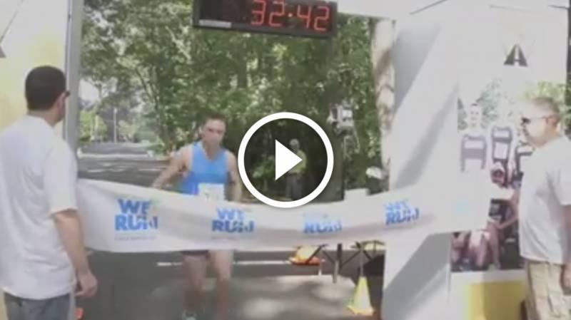 Ce jeune autiste remporte la course avec un chrono canon !