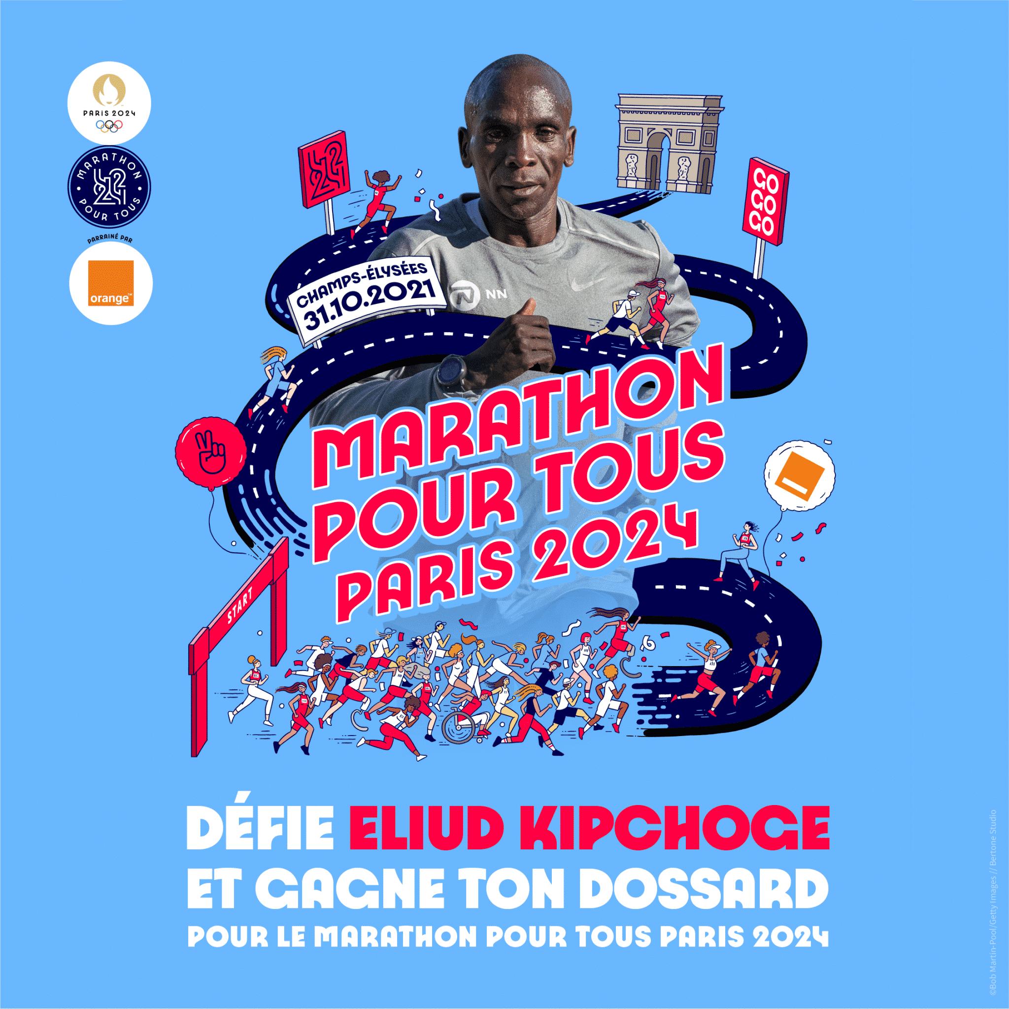 Une course poursuite contre Kipchoge pour gagner son dossard du Marathon pour tous des JO 2024